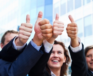business thumb up